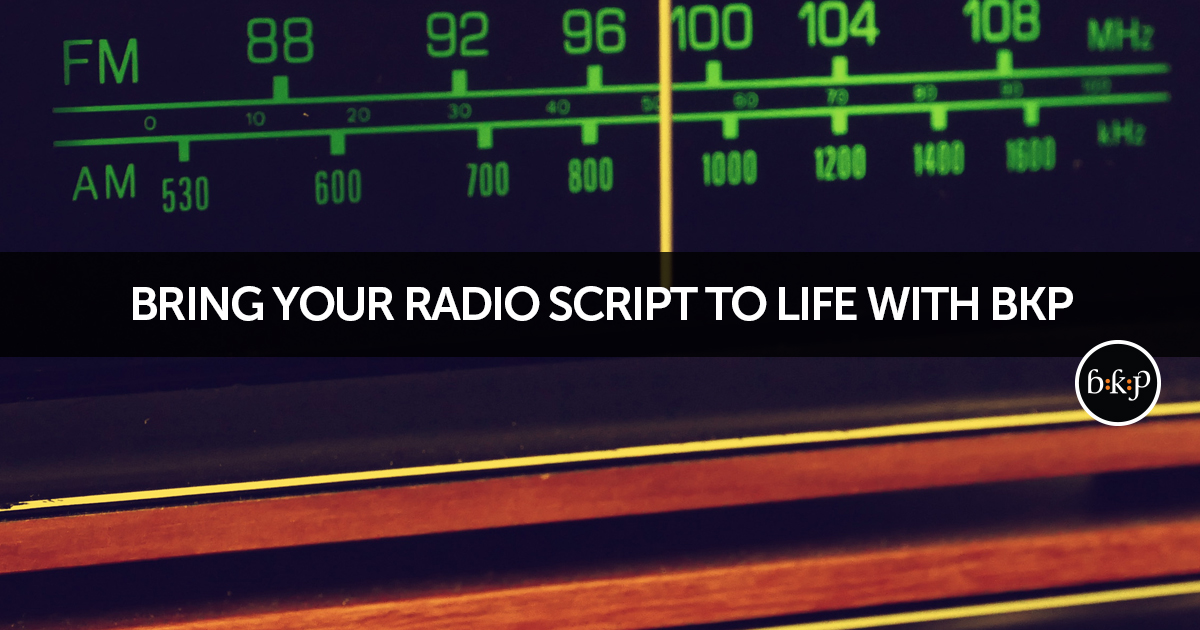 Radio Commercial Production | BKP Media Group