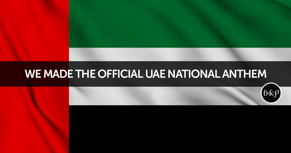 We made the Official UAE National Anthem!